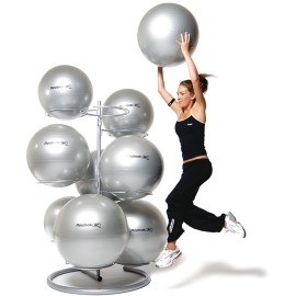 9 GYM BALL RACK WHITE
