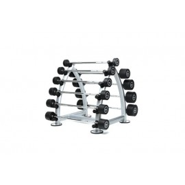 RUBBER BARBELL SET RACK